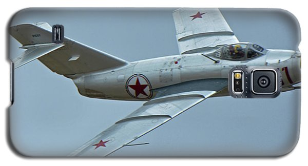 Galaxy S5 Case featuring the photograph Mikoyan-gurevich Mig-15 Nx87cn Chino California April 30 2016 by Brian Lockett