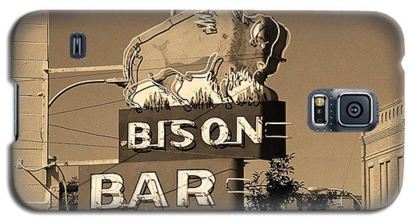 Miles City, Montana - Bison Bar Sepia Galaxy S5 Case