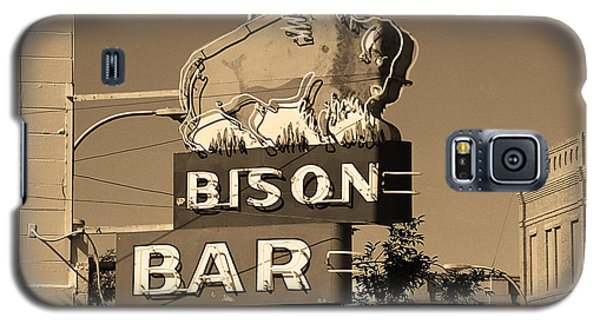 Miles City, Montana - Bison Bar Sepia Galaxy S5 Case