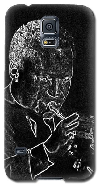 Galaxy S5 Case featuring the mixed media Miles Davis by Charles Shoup
