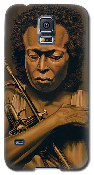 Duke Galaxy S5 Case - Miles Davis Painting by Paul Meijering