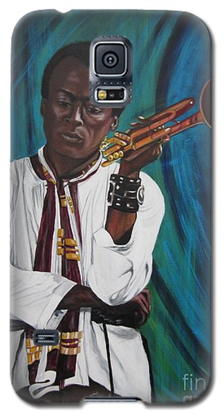 Blaa Kattproduksjoner     Miles-in A Really Cool White Shirt Galaxy S5 Case