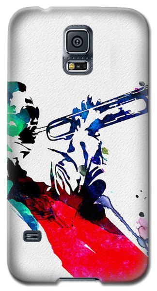 Jazz Galaxy S5 Case - Miles Watercolor by Naxart Studio