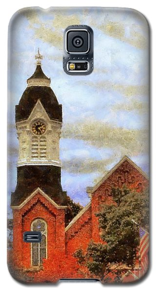 Galaxy S5 Case featuring the photograph Milford Pa Autumn Skyline by Janine Riley
