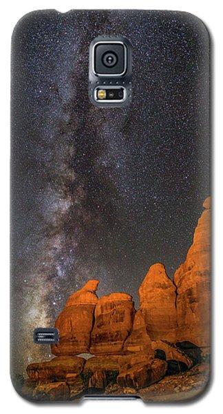Milky Way And Navajo Rocks Galaxy S5 Case