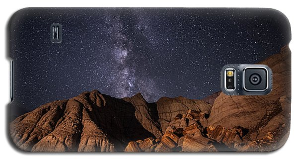 Galaxy S5 Case featuring the photograph Milky Way And Petrified Logs by Melany Sarafis