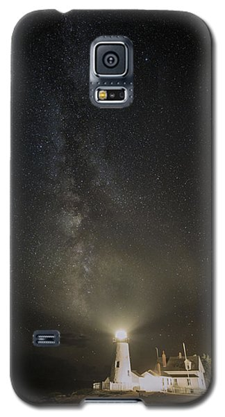 Milky Way At Pemaquid Light Galaxy S5 Case