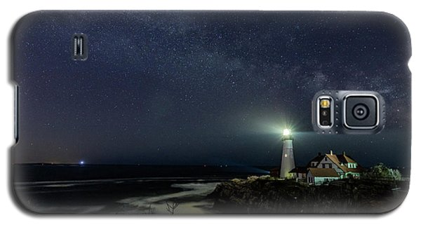 Milky Way At Portland Head Light Galaxy S5 Case