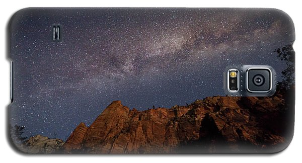 Milky Way Galaxy Over Zion Canyon Galaxy S5 Case