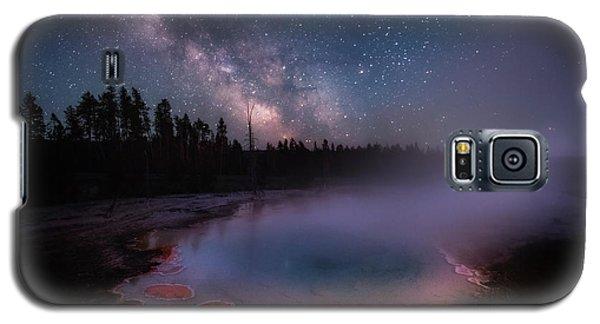 Milky Way In Yellowstone Galaxy S5 Case