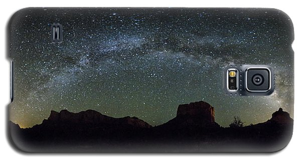Milky Way Over Bell Galaxy S5 Case