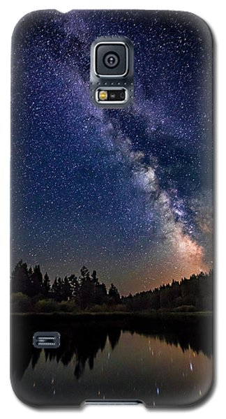 Milky Way Over The Deschutes River Galaxy S5 Case