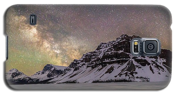 Milky Way Over Crowfoot Mountain Galaxy S5 Case