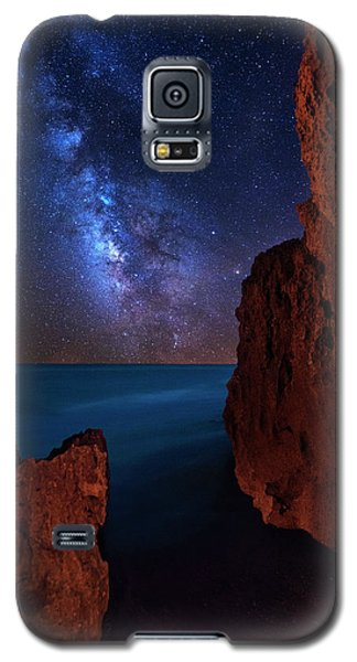 Milky Way Over Huchinson Island Beach Florida Galaxy S5 Case by Justin Kelefas