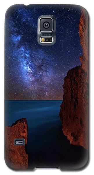 Milky Way Over Huchinson Island Beach Florida Galaxy S5 Case by Justin Kelefas
