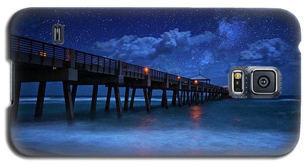 Milky Way Over Juno Beach Pier Under Moonlight Galaxy S5 Case