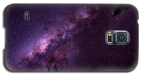 Galaxy S5 Case featuring the photograph Milky Way Over Mission Beach Narrow by Avian Resources