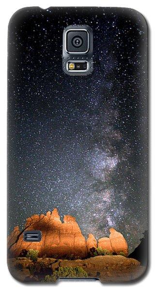 Milky Way Over Navajo Rocks Galaxy S5 Case