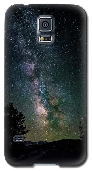 Milky Way Over Rocky Mountains Galaxy S5 Case