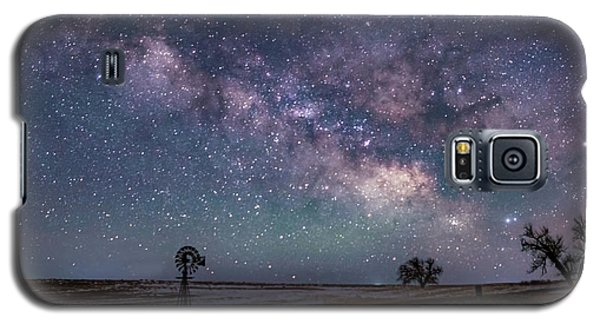Milky Way Over The Prairie Galaxy S5 Case