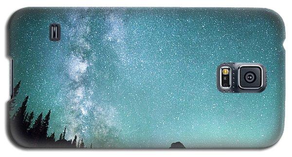 Milky Way // Two Medicine Lake, Glacier National Park Galaxy S5 Case