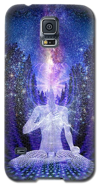 Galaxy S5 Case featuring the painting Milkyway Awakening by Robby Donaghey