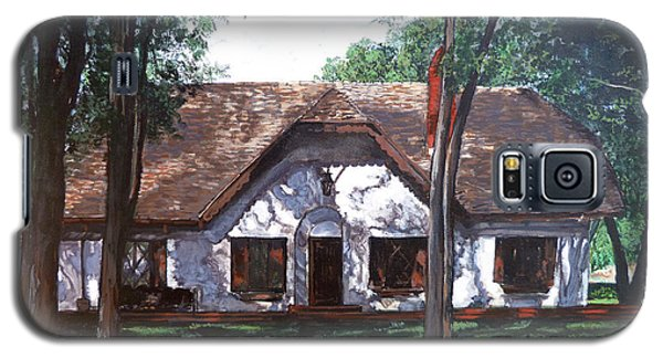Galaxy S5 Case featuring the painting Miller Homestead by Tom Roderick