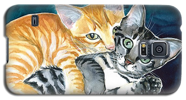 Milo And Tigger - Cute Kitty Painting Galaxy S5 Case