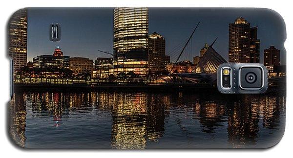 Galaxy S5 Case featuring the photograph Milwaukee Reflections by Randy Scherkenbach