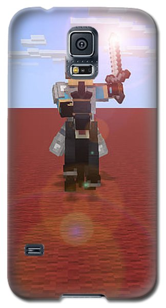 Galaxy S5 Case featuring the digital art Minecraft Knight by Brindha Naveen