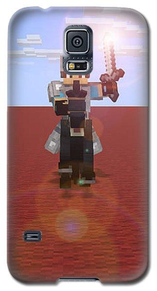 Minecraft Knight Galaxy S5 Case