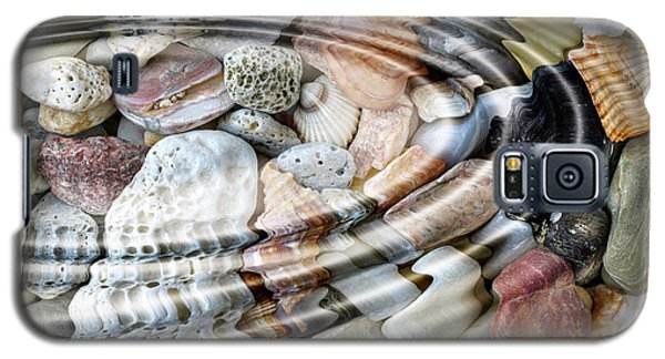 Galaxy S5 Case featuring the digital art Minerals And Shells by Michal Boubin