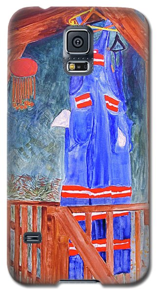Galaxy S5 Case featuring the painting Miner's Overalls by Sandy McIntire