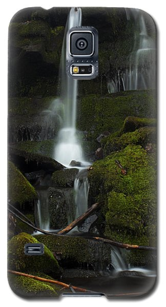 Galaxy S5 Case featuring the photograph Mini Waterfall In The Forest by Jeff Severson