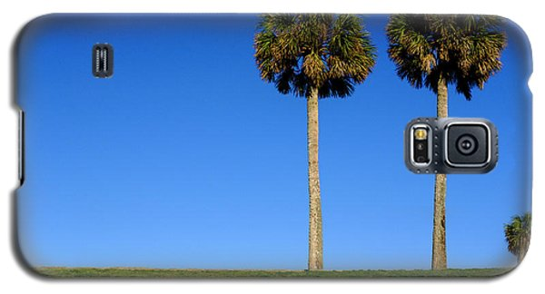 Minimal Palm Trees On A Hill In Saint Augustine Florida Galaxy S5 Case
