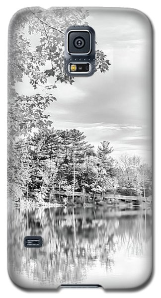 Minimalist Fall Scene In Black And White Galaxy S5 Case