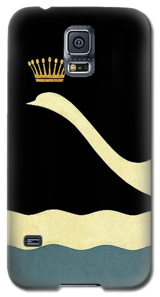 Minimalist Swan Queen Flying Crowned Swan Galaxy S5 Case by Tina Lavoie