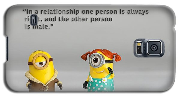 Minion Quote 17 Galaxy S5 Case by Tim Nichols