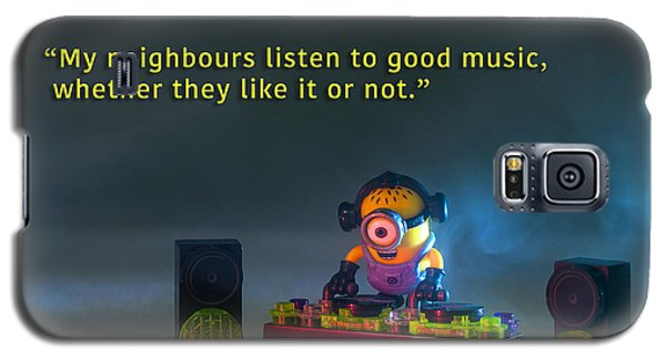 Minion Quote 18 Galaxy S5 Case by Tim Nichols
