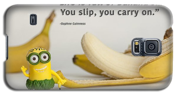 Minion Quote 3 Galaxy S5 Case by Tim Nichols