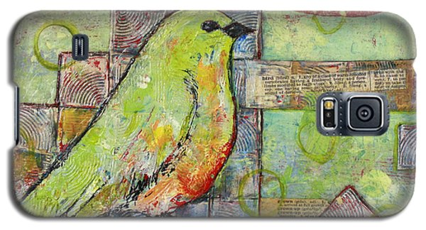Bird Galaxy S5 Cases - Mint Green Bird Art Galaxy S5 Case by Blenda Studio