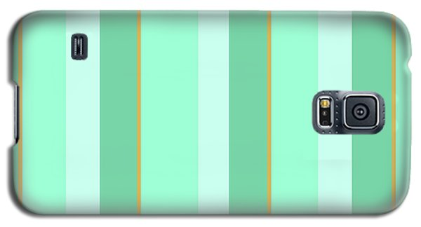 Galaxy S5 Case featuring the mixed media Mint Green Stripe Pattern by Christina Rollo