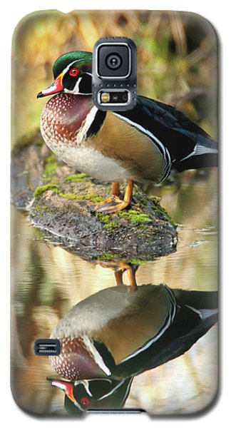 Mirrored Wood Duck Galaxy S5 Case