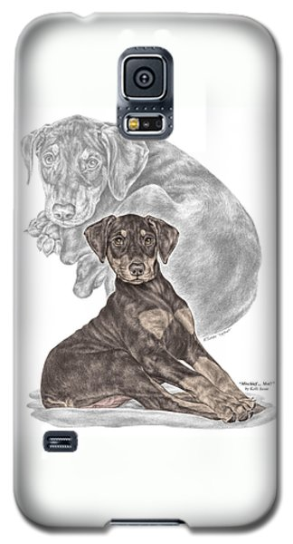 Mischief ... Moi? - Doberman Pinscher Puppy - Color Tinted Galaxy S5 Case