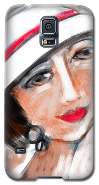 Galaxy S5 Case featuring the digital art Miss Mary by Elaine Lanoue