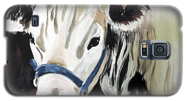 Galaxy S5 Case featuring the painting Miss White by Tom Riggs