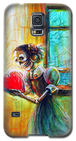 Galaxy S5 Case featuring the painting Missing You by Heather Calderon