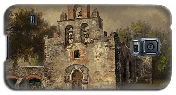 Galaxy S5 Case featuring the painting Mission Espada by Kyle Wood