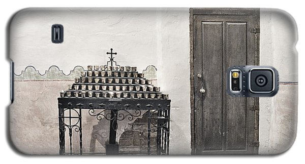Galaxy S5 Case featuring the photograph Mission San Diego - Confessional Door by Christine Till