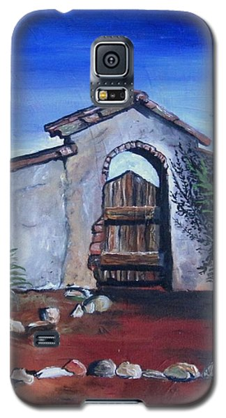 Galaxy S5 Case featuring the painting Rustic Charm by Mary Ellen Frazee